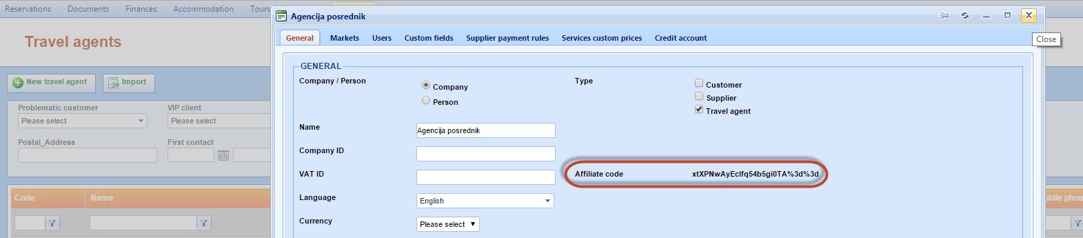 affiliate code