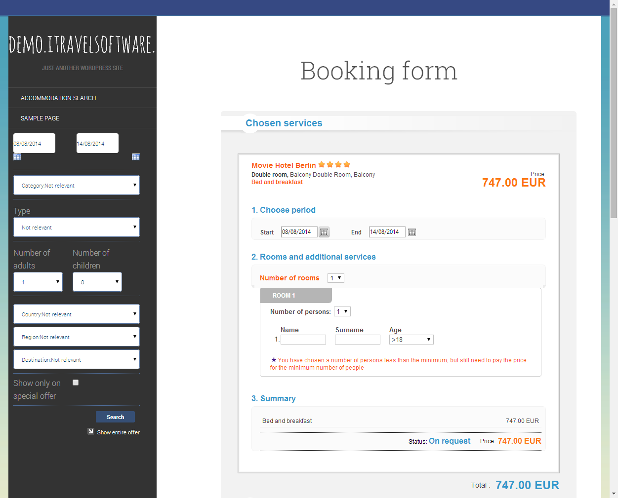 WordPress Travel Booking Plugin
