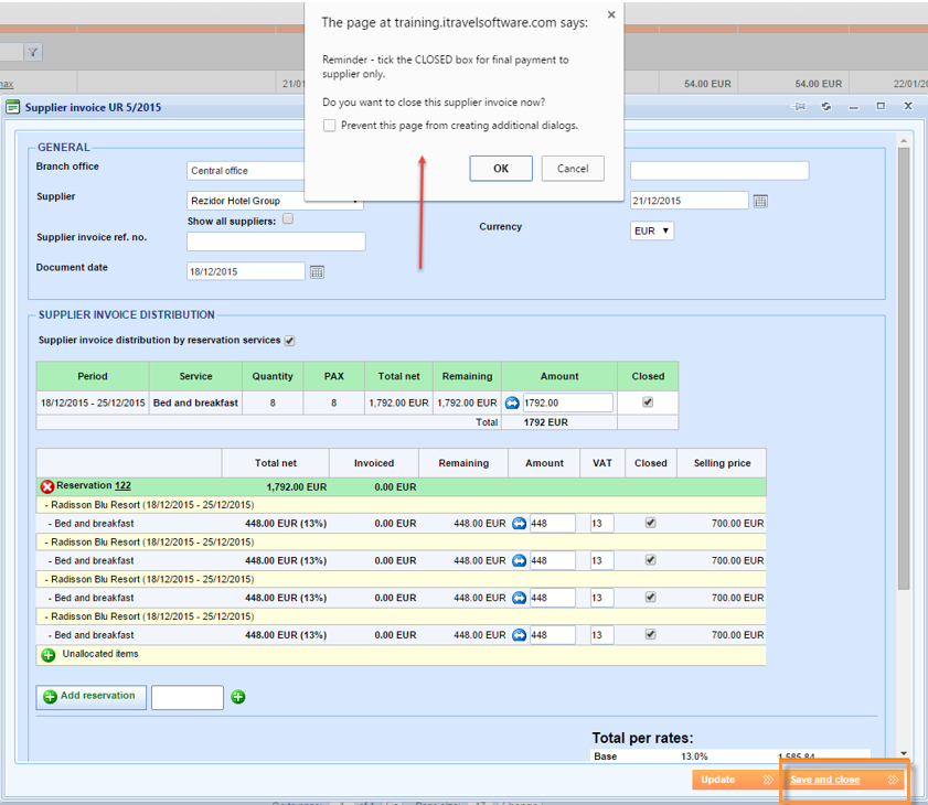 Pop Up Reminder Added When Saving A Supplier Invoice Lemax - Invoice reminder software